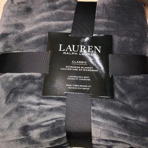 Ralph Lauren blanket gray NWT